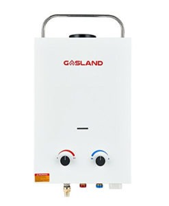 portable tankless water heater and outdoor shower