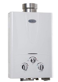 the indoor tankless water heater