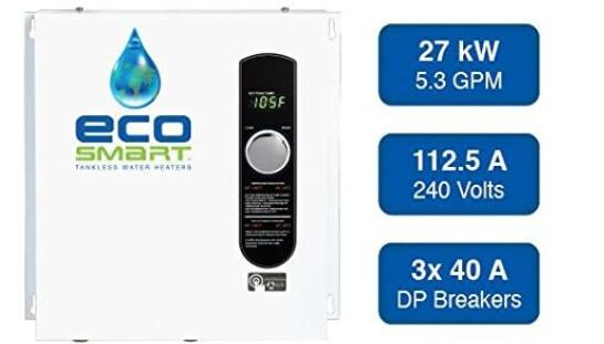 eco 27 electric tankless water heater