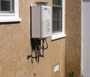 install outdoor water heater
