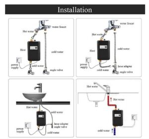 3000w tankless water heater intallation