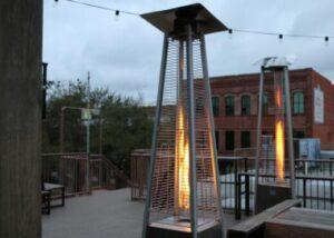 pyramid garden patio heater