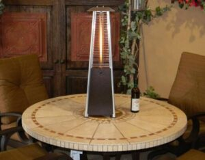 propane patio heater with table